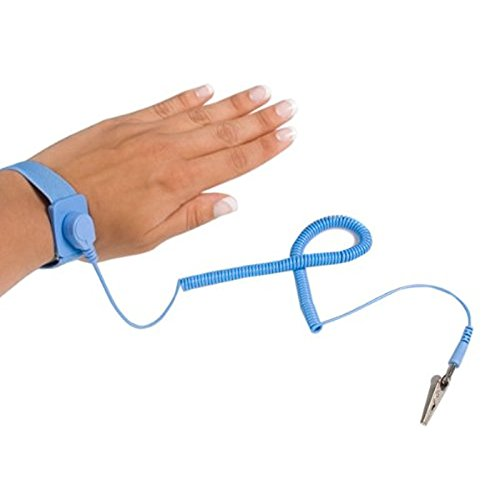 Absir StarTech ESD Anti Static Wrist Strap Band with Grounding Wire SWS100 (Blue)