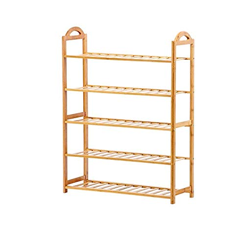FCSF Zapatero para interiores a prueba de polvo y ahorro de espacio, simple zapatero para el hogar, varias capas de madera maciza, zapatero (2 tamaños) para entrada (tamaño: A), 2, 2