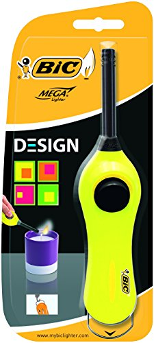 BIC Mega Encendedor, diseño estándar, más ligero–varios colores, color Assorted N/A