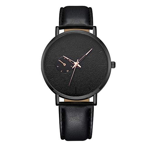 Quarzuhr Damen Armbanduhren, vansvar Herren Casual Quarz Lederband Newv Strap Watch Analoge Armbanduhr EvansampD