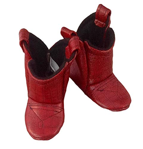 Red Leather Baby Cowboy Boots