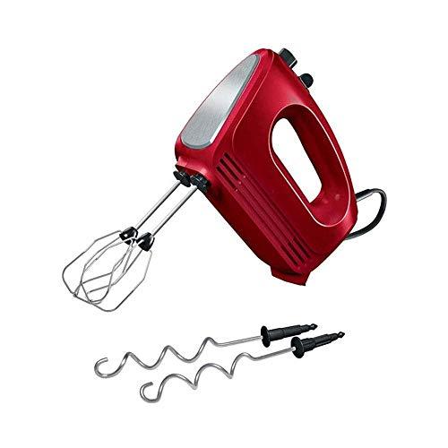 1yess Compacta del Mezclador eléctrico de la Mano for batir + Mezcla Las Galletas, Brownies, Pasteles, Pasta, Batidos, merengues Más, 5 Velocidad (Color: Negro) (Color : Red)