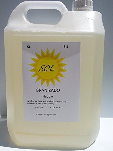 Granizado Neutro (1:5) - 4 Garrafas de 5 Litros concentrado = 120 Litros de granizado