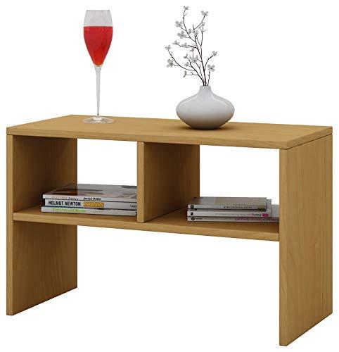VCM Tisch Sofatisch Beistelltisch Couchtisch Wohnzimmertisch Kaffeetisch Nachttisch Buche 45x60x40 cm