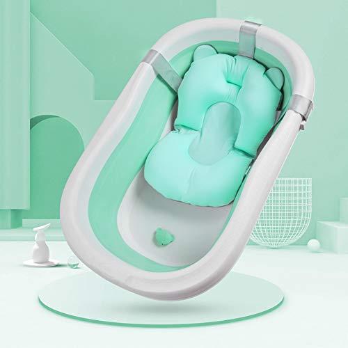 Alfombrilla de baño para bebé recién nacido, cojín de baño suave, cojín de ducha, soporte de seguridad, asiento de baño en la parte inferior de la edad 3D nido de abeja almohada cervical