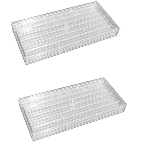 B Blesiya Caja de Almacenamiento para Teclas de 2 Piezas 2 Capas Lavables para Organizador de Juegos de Teclado