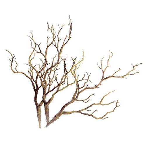 Hongma 3er Zweige Äste aus Kunststoff Kaffee Grün Blau Kunstpflanzen Blumenvase Dekoration