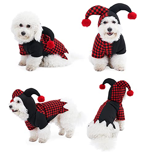 Yoption Dog Cat Joker Costumes, Pet Halloween Christmas Cosplay Dress Hoodie Funny Outfits Clothes...