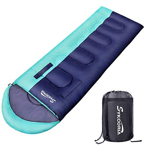 Sykooria 寝袋 封筒型 シュラフ 軽量 保温 防水 1.6kg 1.8kg 手足伸ばし可能 快適温度0℃-25℃ コンパクト ア...