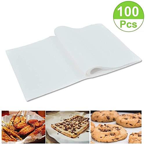 Mioke Backtrennpapier Backpapier Weiß 100pcs 30 * 40CM Antihaftbeschichtet Backpapier Zuschnitt,Liner Antihaft Backblech Dampfer Papier