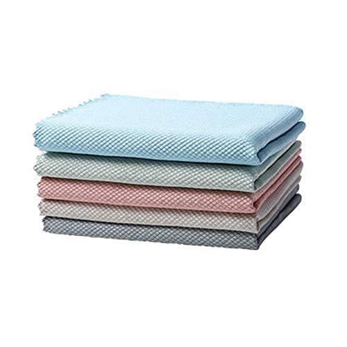 NRRN 5 paños de limpieza, paños de microfibra superabsorbentes para lavar platos, paños de limpieza de secado rápido para muebles de casa
