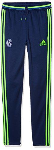 adidas Kinder Schalke 04 Hose, Dark Blue/Solar Green, 176