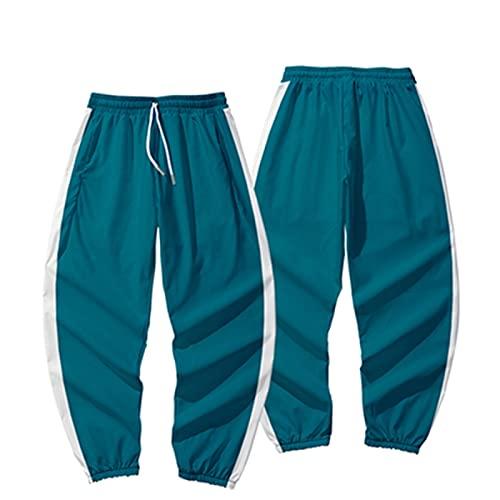 ITSHAY Squid Game Disfraz de Cosplay Pantalones Unisex Cosplay 00121845621267240 Conjuntos de Ropa Chndal de Ocio de Moda,Disfraz de Halloween Unisex (Color : Blue, Size : S-a)