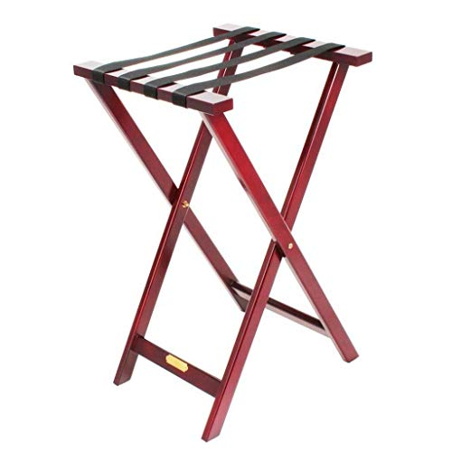 Best Buy! AJZGF Luggage Rack Solid Wood Folding Luggage Rack Suitcase Stand Luggage Rack Backpack, 8...
