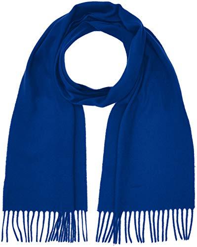 GANT Herren Solid Lambswool Scarf Schal, Blau (College Blue), One size