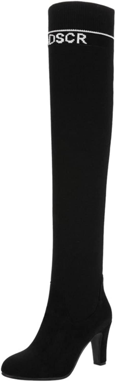 TAOFFEN Women's Boots Over Knee Mid Calf