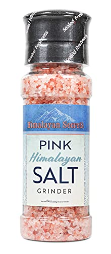 Pink Himalayan Cooking Salt in Refillable Grinder