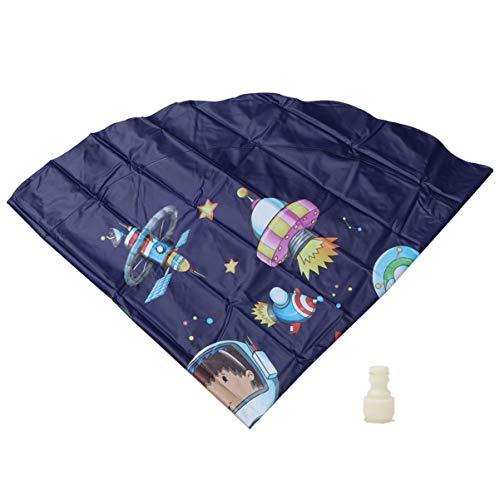 POPETPOP Verão Ao Ar Livre Almofada Tapete Tapete Ao Ar Livre à Prova de Água de Aspersão Gramado Sprinkler Jogo Almofada para Crianças Azul Escuro 170 Centímetros