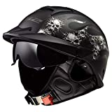 LS2 Helmets Rebellion Motorcycle Half Helmet (Bones - Large)