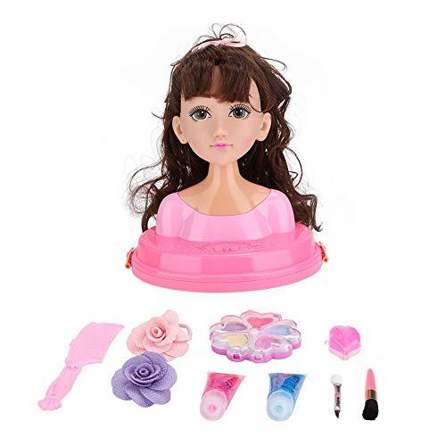 EBTOOLS Doll Makeup Kit, Bust Doll Dress Set Make-up Kappers Princess Kindergeschenkdoos Meisjesspeelgoed(MY319-6)
