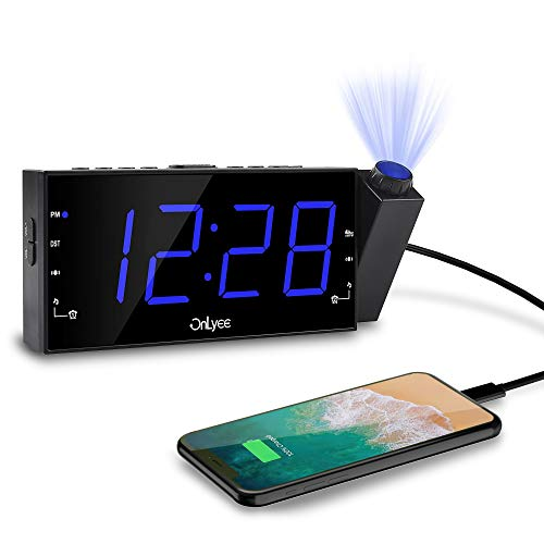 """OnLyee Projection Alarm Clock with AM FM Radio 