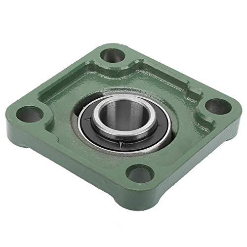1 cojinete cuadrado con brida cuadrada UCF204/205/206/207/208/209/210, color verde