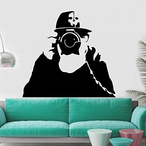 SUPWALS Photographer Wall Sticker Cool Boys Pattern Self-adhesive Vinyl Wal Decals Home Decoration For Living Room Teen Room