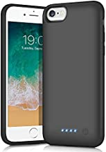 FOCHEW Battery Case for iPhone 8/7/6S/6 SE 2020, [6000mAh] Portable Charging Case Protective External Battery Pack for iPhone 6/6s/7/8/SE 2020 (4.7inch) Rechargeable Charger Cover - Black