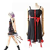 YEQ-Anime Guilty Crown Yuzuriha Inori Cosplay Costume Halloween Dress Party Game Uniform,Black,M