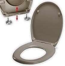 spirella Premium wc-deksel ovaal wit. WC-deksel met Quick-Release-functie en softclosemechanisme. Antibacteriële wc-bril v...