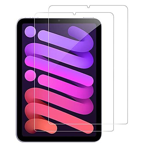 2021秋冬モデル・強化硝子AMOVO iPad mini 6 用 フィルム 日本製旭硝子素材 2021オリジナル改良 iPad mini(第6世代)用 ガラスフィルム 9H硬度 高透過率 指紋防止 2.5Dウンドエッジ加工 自動吸着 気泡ゼロ iPad mini 2021 用 液晶保護フィルム (透明 2枚セット)
