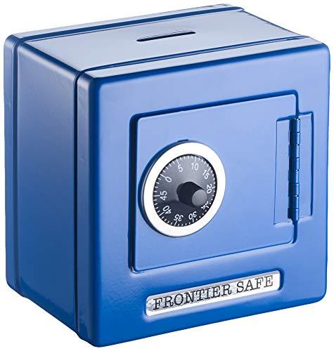 goki 14020 - Metalltresor als Spardose mit Kombinationsschloss, blau