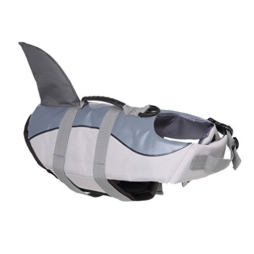 Yunt Hunde Schwimmhilfe Grau-Haifische-Design Schwimmweste Pet Life Jacket