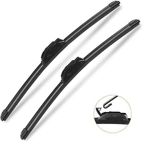 AUTOBOO OEM Quality 22' + 20' Premium All-Seasons Durable Stable And Quiet Windshield Wiper Blades 2 Pack ( pair for front windshield )