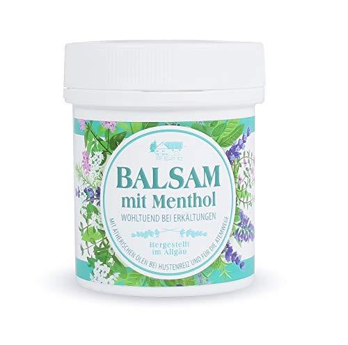 Mentholbalsam Balsam mit Menthol 125ml kann bei Erkältung und Husten zur Winterzeit erholsam wirken Hergestellt in Deutschland