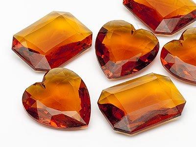 OPTIMA Pierres de gemme de Octagon/Coeur 30-40mm (Topaz Form Mix), 10 Pièces