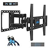 Mounting Dream TV Mount Full Motion for Most 26-55 Inch Flat Screen TVs, TV Wall Mount Bracket with Articulating Dual Arms Bear Up to VESA 400x400mm and 99 lbs - Tilt, Swivel and Rotation
