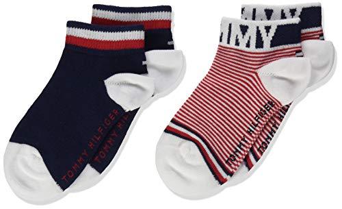 Tommy Hilfiger Mädchen TH Kids Quarter 2P FINE Stripe Socken, Mehrfarbig (Tommy Original 085), 27-30 (Herstellergröße: 27/30) (2er Pack)