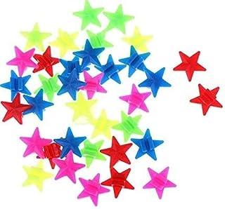 MinPro 80 stuks spaakdecoratie sterren - 2 cm gekleurde sterretjes voor fietsspaken fiets