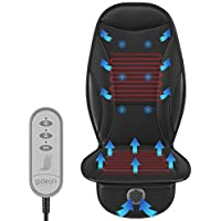 Gideon Heating & Cooling Luxury Seat Massager with 12V Cigarette Lighter Power & Controller