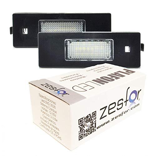 Zesfor Luces de matrícula LED para Alfa Romeo 147 (2000-)