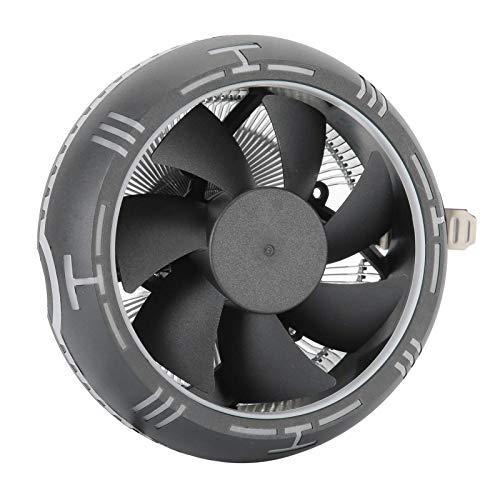 Ventilador de enfriamiento de CPU de computadora para disipador de calor de enfriador de CPU de chip Resistente a la deformación ABS + Material de aluminio