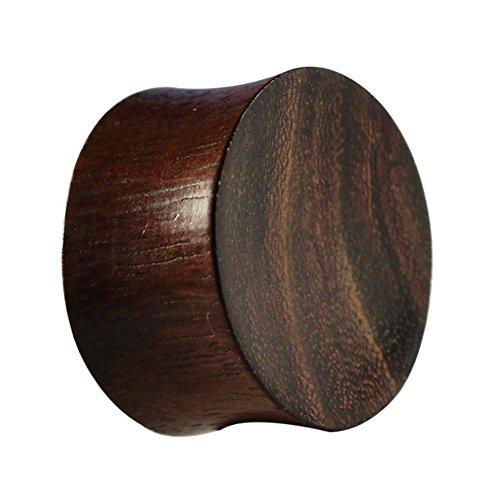 Chic-net in legno di teak legno Plug Tunnel Expander Unisex orecchini Organic orecchini Piercing