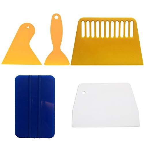 Rasqueta de serigrafía, raspador de plástico para serigrafía 5 piezas