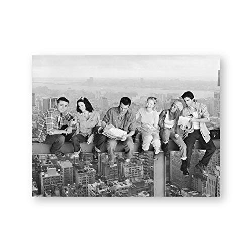Friends TV show poster wall art prints, Friends TV New York skyline canvas painting Living room frameless decorative painting wall A96 50x70cm
