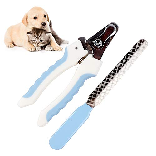 Vech Dog Nail Clipper and Free Nail File,Professional Cat Nail Clippers and Trimmer with Safety Guard to Avoid Overcutting on Razor Sharp Blades for Small and Large Dog Animal