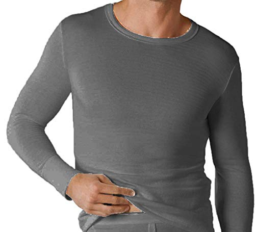 Soacks Uwear Sous-vêtement thermique à manches longues pour homme, hiver - Gris - XL