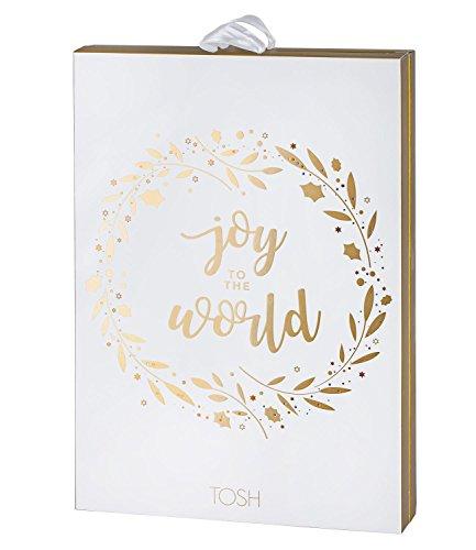 TOSH Damen Schmuck Adventskalender mit 24 Premium Schmuck Überraschungen mit Ohrring, Ring, Armband, Kette, Aufschrift: Joy to The World (701-023)