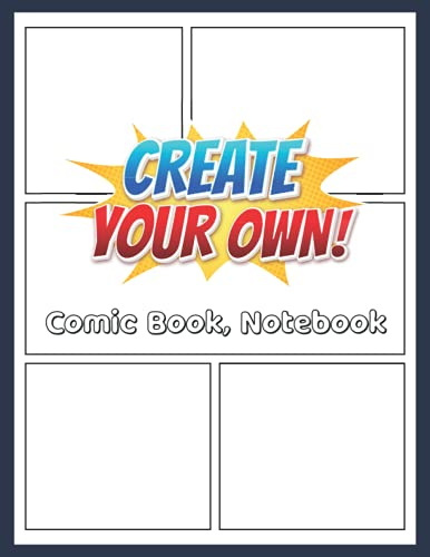 Sketch Your Own Comic Book  Blank Comic Sketch Book with a...