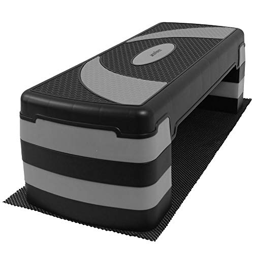 créer 踏み台昇降 ステップ台 選べる4段高さ すべり止め 防音マット付 (グレー(4段))